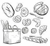 Bread. Buns. Baking. Vector illustration.