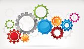 foto of color wheel  - Abstract gear background with colourful wheels  - JPG