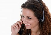 Young Lady with Headset