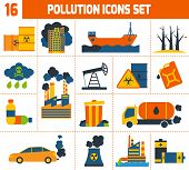 Pollution Icons Set