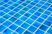 Mosaic Tiles Wall And Floor In Azure Blue