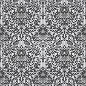 Seamless black and white vintage vector background.