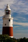 Lighthouse, red and white striped