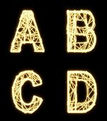 Alphabet Of Glowing Cable