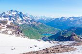 View from the Grande Motte glacier