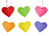 Colorful Heart  Labels