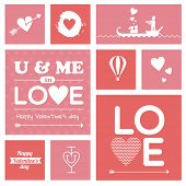 Valentines day lettering, symbols & icons
