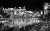 Landscape In Black And White Of Village Of S. Giovanni Bianco, In Italy