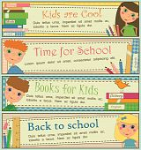 Kids in School Banners