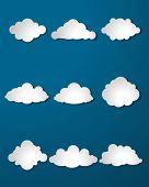 Clouds Set On Blue