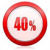 40 percent icon sale sign