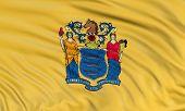 3D New Jersey Flag