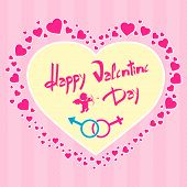Valentine's day gift card angel cupid valentine holiday