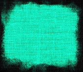 Cyan burlap textured background