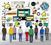 Diversity Casual People Responsive Design Content Aspiration Concept