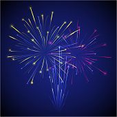 colored chinese new year fireworks illustration