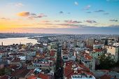 Istanbul, Sunset View From Galata Tower