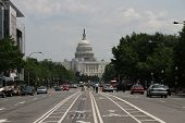 The Capitol Building In Washington, Streetview