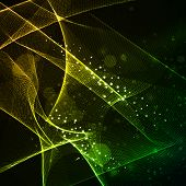 Futuristic Gold Wave Abstract background