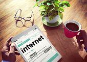 Digital Dictionary Internet Connect Concept