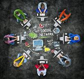 Social Network Social Media People Technology Computer Concept