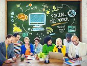 Social Network Social Media People Learning Education Concept