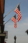 American Flags On The Wall