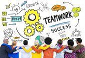 Teamwork Team Together Collaboration Diversity People Friends Concept