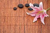 Arreglo de spa con Lily y piedras