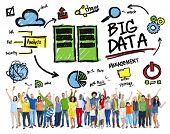 Diversity People Big Data Management Teamwork Celebration Concept