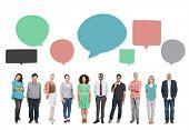 People Communication Diversity Multiethnic Group Global Communication Concept