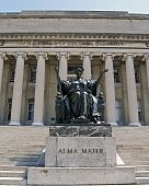 stock photo of mater  - The Alma Mater statue at Columbia University an Ivy League school - JPG