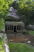 Ancient hydrological structures in ruins of ancient cities Mihintale in Sri Lanka