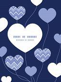 Vector purple drops chevron heart symbol frame pattern invitation greeting card template