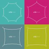 Set framework for multi colored backgrounds.
