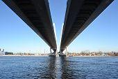 Big Obukhovsky Bridge In St.petersburg.