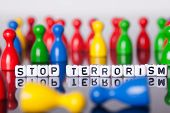 Cube Letters Show Stop Terrorism