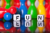 Cube Letters Show The Word Fun