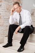 Depressed Businessman.