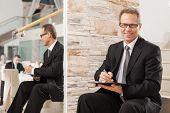 Businessman Making Notes.