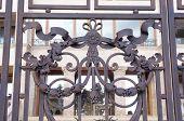Ornate Wrought Iron Gate Closeup
