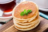 Stack of small pancakes