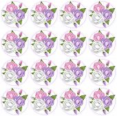Pink, Lavender and White Rose Pattern