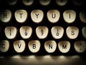 image of 70-year-old  - 1970s decade concept on old vintage typewriter - JPG