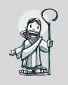 Jesus cartoon a