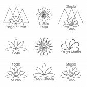 Template for logo of yoga studio