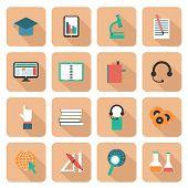 Set of e-learning icons