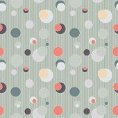 Seamless pattern with circles and lines