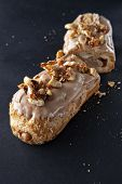 exquisite cream dessert eclair