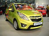 Chevrolet Spark car in Belgrade car show